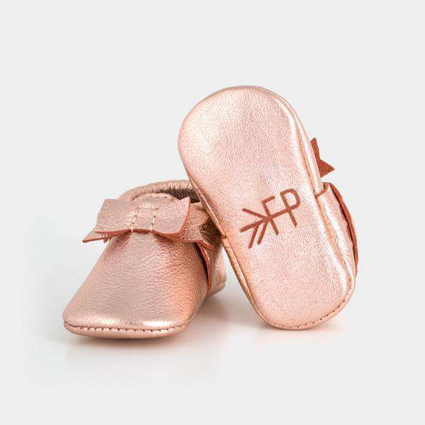 Freshly Picked | Rose Gold Bow Moccasins