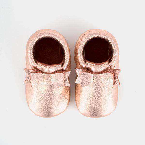 Freshly Picked | Bow Moccs ~ Rose Gold