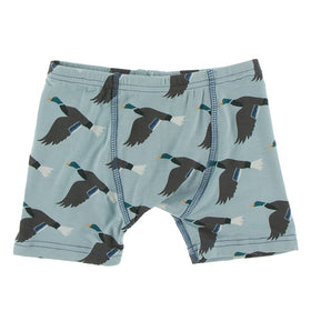 Kickee Pants Boy's Boxer Brief | Jade Mallard Duck