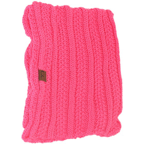 CC Beanie | Adult Knit Infinity Scarf ~ New Candy Pink