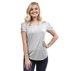 Simply Southern | Casually Elegant Cut Out Top ~ Midnight