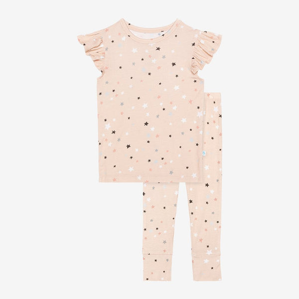Posh Peanut ~ Ruffled Cap Sleeve Pajama Set ~ Star