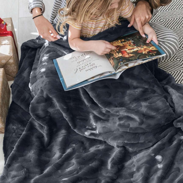 Saranoni Luxury Blanket | Charcoal