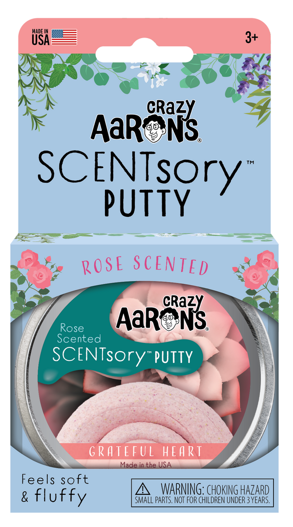 Crazy Aaron's Thinking Putty |  SCENTsory Putty ~ Grateful Heart  .08 oz