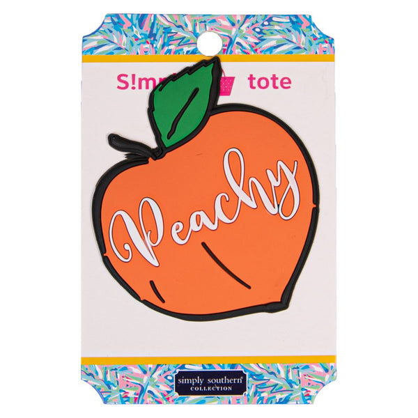 Simply Southern Tote Charm ~ Peachy