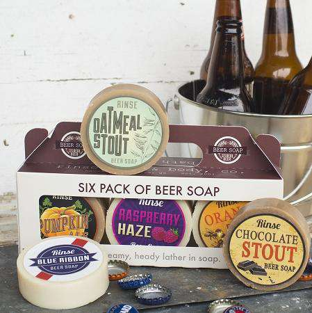 Rinse Bath Body Inc | Beer Soap ~ Six Pack Of Beer