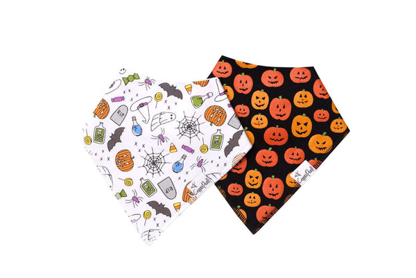 Copper Pearl | Modern Bandana Bibs 2 Pack ~ Spook