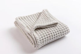 The Sugar House Cloud Blanket ~ Light Grey