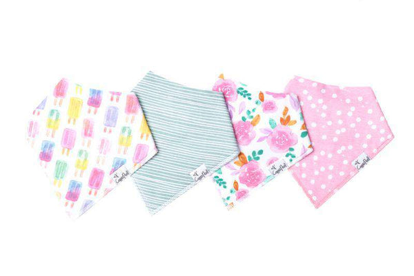 Copper Pearl | Modern Bandana Bibs 4 Pack ~ Summer