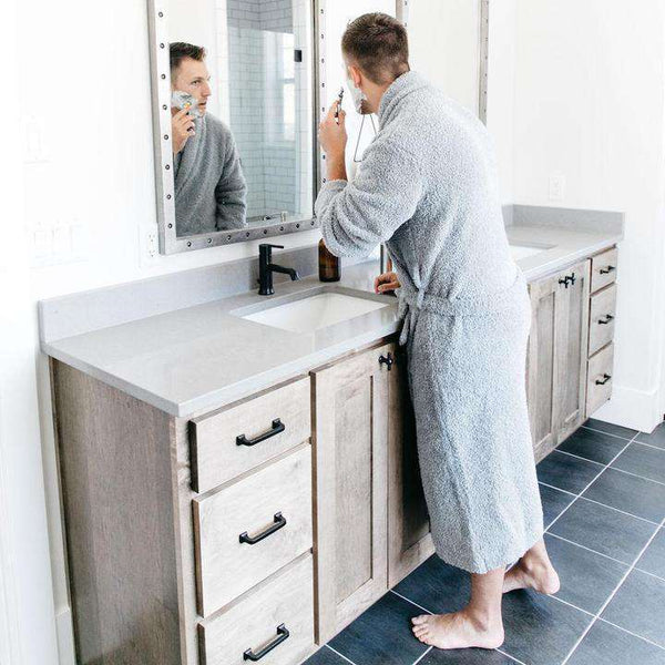 Saranoni Cozy Bamboni Robes for Men and Women ~ Gray
