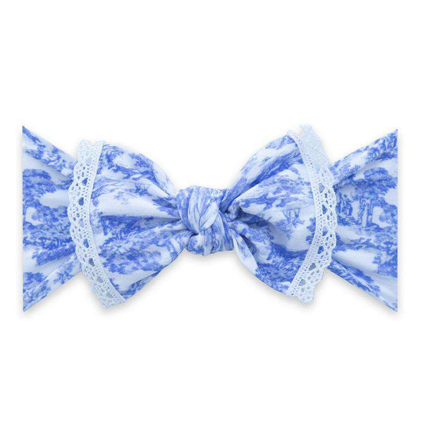 Baby Bling Bows | Trimmed Printed Knot Headband ~ Vintage Wallpaper