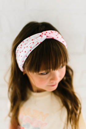 Baby Bling Bows | Twist ~ Shabby Red W Red Dot White W Red Dot