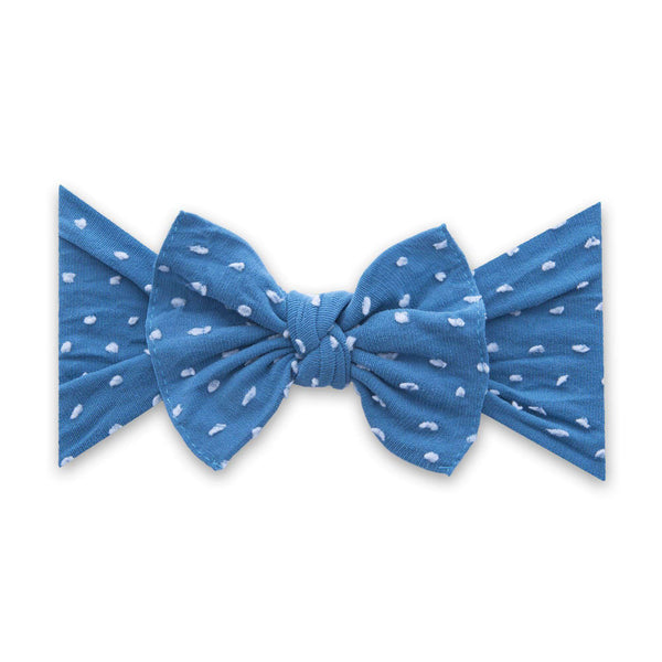 Baby Bling Bows |  Patterned Shabby Knot ~ Laguna Dot