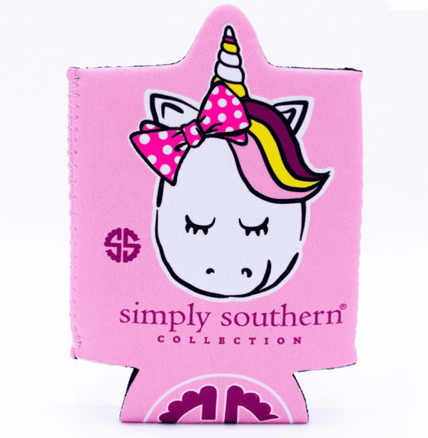 Simply Southern Koozie With Cash Holder~ Beautiful Unicorn