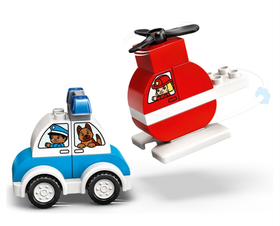 Lego |  Duplo ~ Fire Helicopter & Police Car
