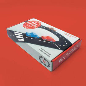 Way To Play | Ringroad Rubber Toy Road Set ~ 12 piece