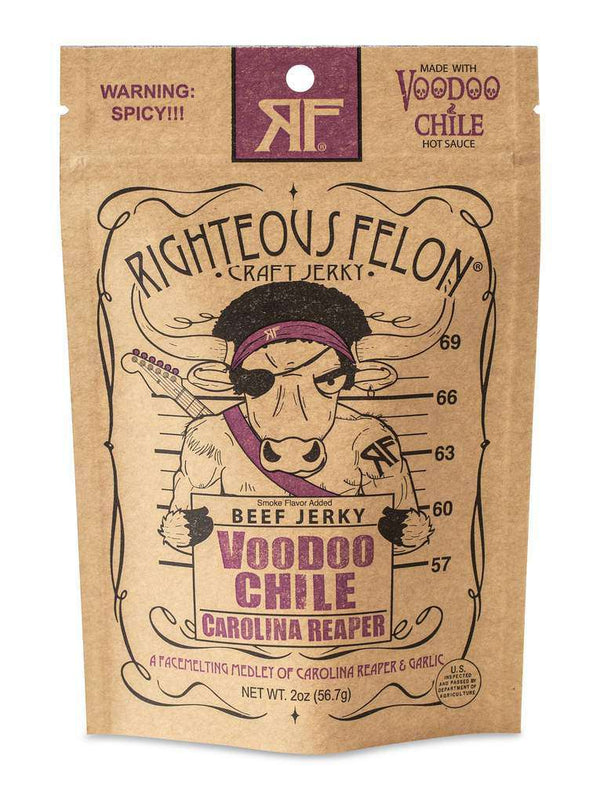 Righteous Felon Craft Jerky  - Voodoo Chile Beef Jerky