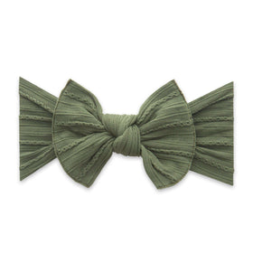 Baby Bling Bows | Cable Knit Knot Headband ~ Army Green