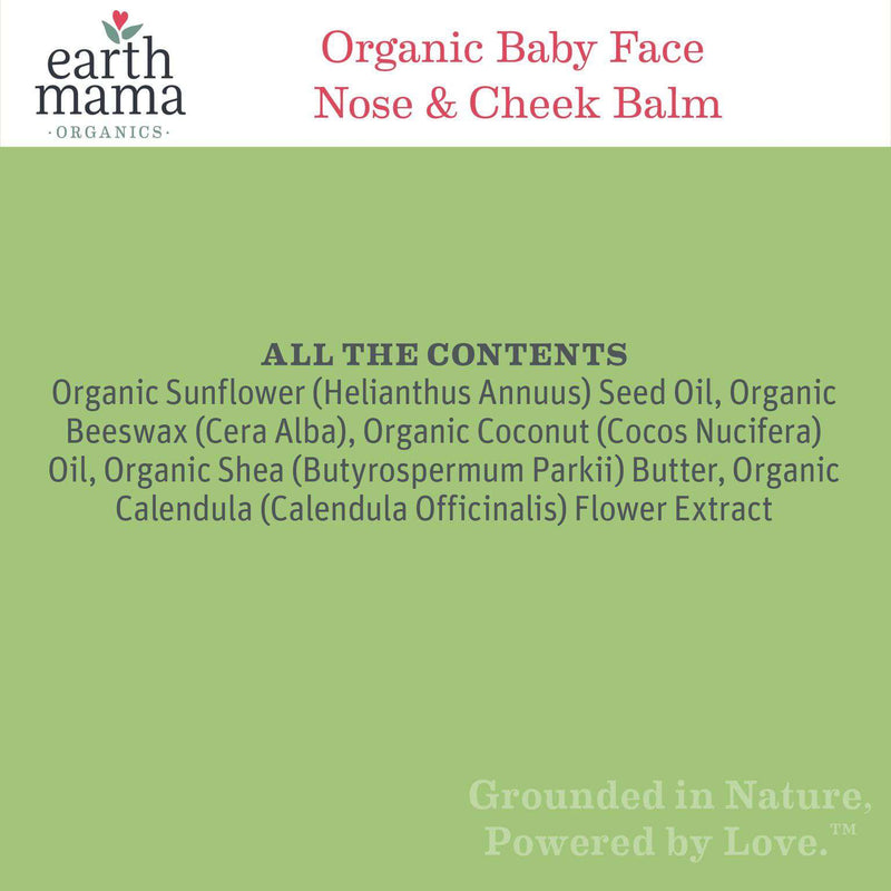 Earth Mama Angel Baby  | Baby Face Organic Nose & Cheek Balm