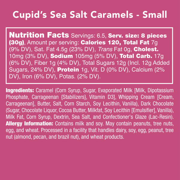 Candy Club | Valentine's Day Collection ~ Cupid's Sea Salt Caramels