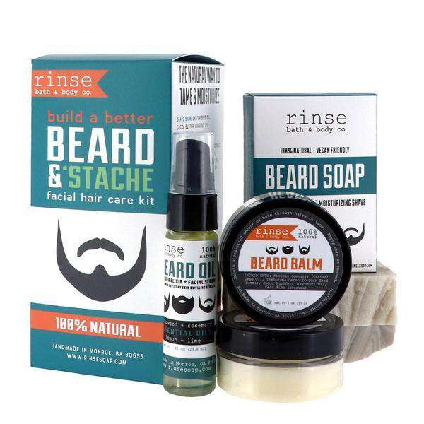 Rinse Bath Body Inc | Beard & Stache Kit