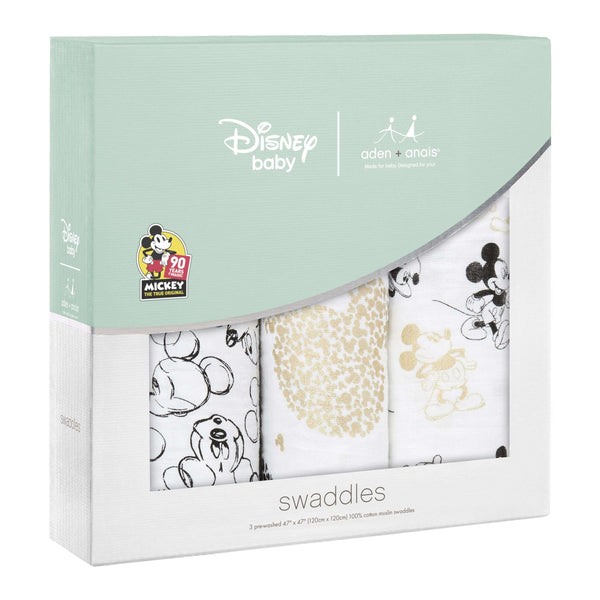aden + anais ~ Mickey's 90th ~ 3 Pack Swaddle Set