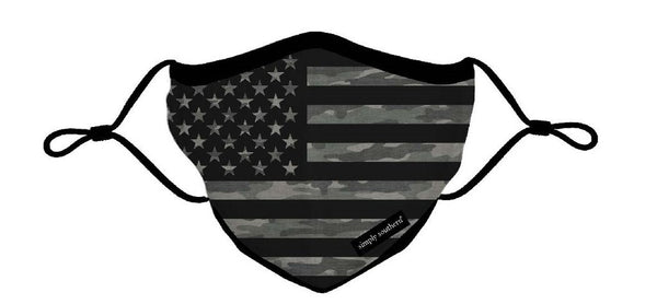 Simply Southern | Adjustable Strap Cotton Face Masks ~ Flag
