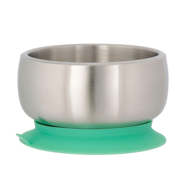 Avanchy Stainless Steel Baby Suction Bowl | Green