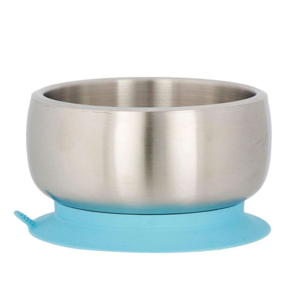 Avanchy Stainless Steel Baby Suction Bowl | Blue