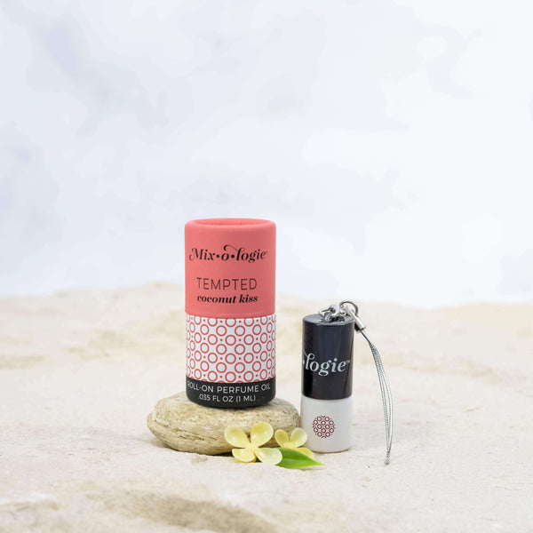 Mixologie - Tempted (coconut kiss) Mini Roll-On Perfume Keychain (1 mL)