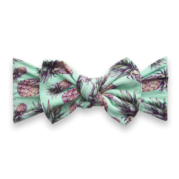 Baby Bling Bows | Printed Knot Headband ~ Pineapple Paradise