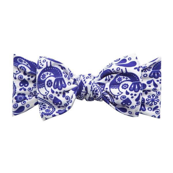 Baby Bling Bows | Printed Knot Headband ~ Swiss Toille