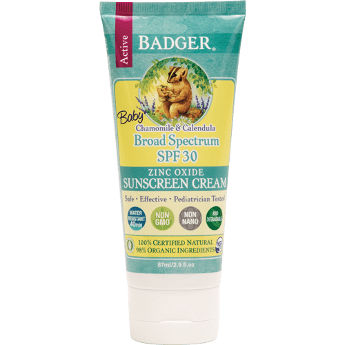 Badger Healthy Body Care ~ Baby Sunscreen Cream SPF 30