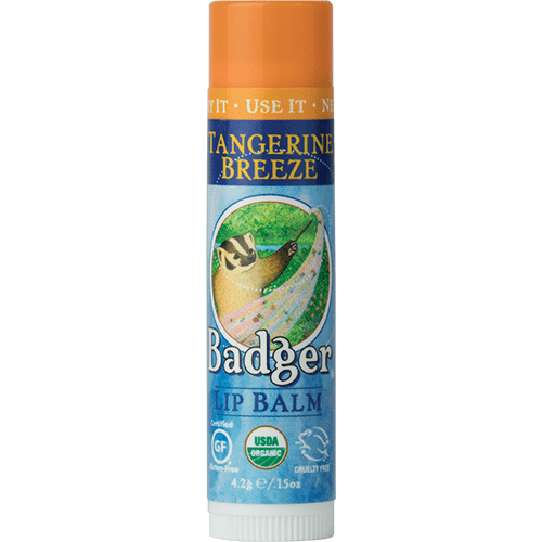 Badger Healthy Body Care ~ Classic Organic Lip Balm - Tangerine Breeze