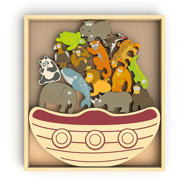 Begin Again Toys | Balance Boat Endangered Animals