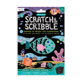 Ooly | Mini Scratch & Scribble Art Kit ~ Friendly Fish