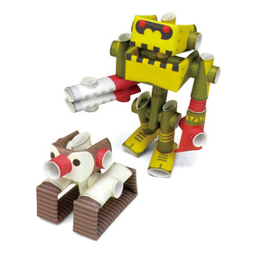 Magnote - PIPEROID Penk & Goriborg paper craft - Professor & His Robot