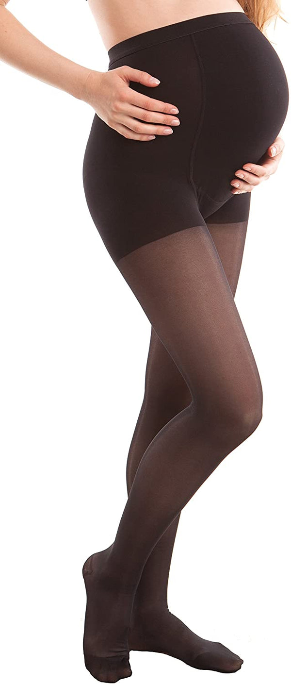 Gabrialla | PETITE BLACK Maternity Pantyhose - Firm Compression - 20 to 25 mmHG *final sale*