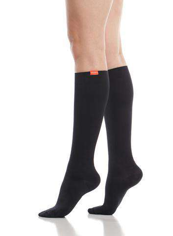 Women's Compression Knee-Highs | Serious Solids Black (Nylon)