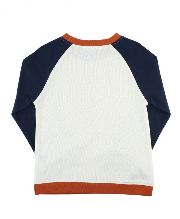 RuggedButts ~ Navy Colorblock Raglan Sweatshirt