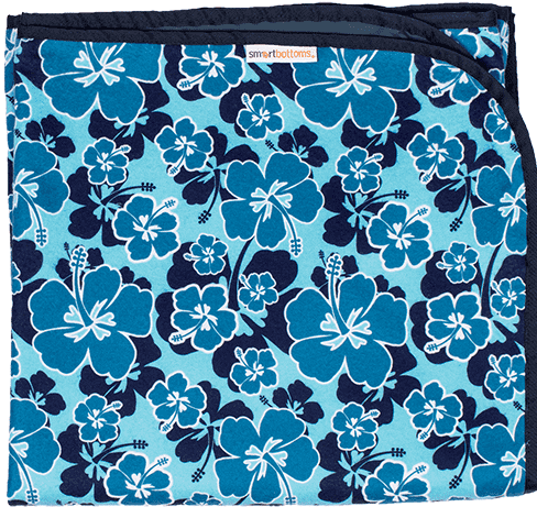 Smart Bottoms Beach Blanket | Blue Hibiscus