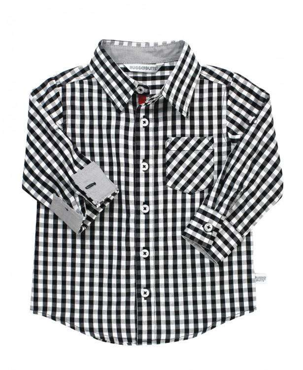 RuggedButts ~ Black & White Gingham Button Down Shirt