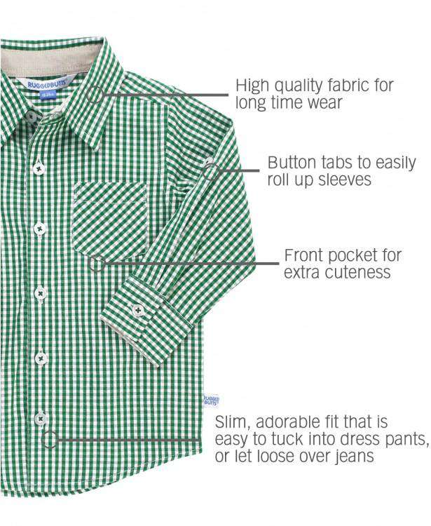 RuggedButts ~ Pine Gingham Button Down Shirt