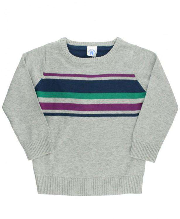 RuggedButts ~ Gray Stripe Sweater