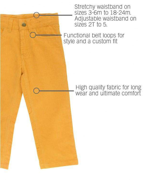 RuggedButts ~ Golden Yellow Straight Corduroy Pants