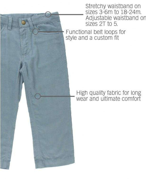 RuggedButts ~ Slate Straight Corduroy Pants