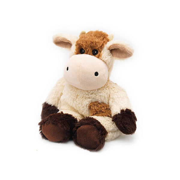 "Warmies | Warming Soft Toys ~ 13"" Brown/White Cow"
