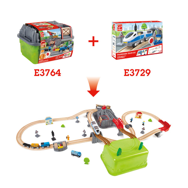 Hape | Railway Bucket-Builder Set