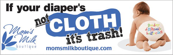 If your diaper's not CLOTH it's trash! | Bumper Sticker