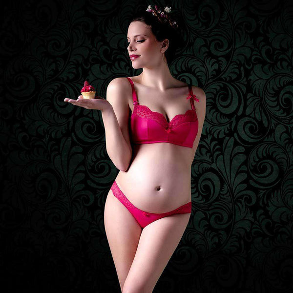 Cache Coeur | LollyPop Wireless Nursing & Maternity Bra | Grenadine